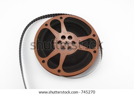 16mm film reel - stock photo