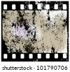 35 mm filmstrip, picture frame isolated on white background - stock photo
