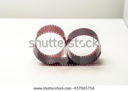35mm negative film - stock photo
