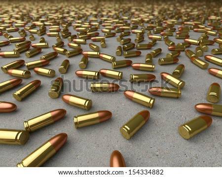 9mm Rounds  - stock photo