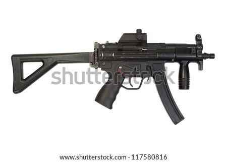 9mm submachine gun MP5 isolated