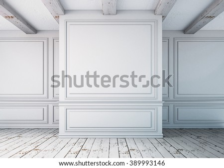 Mockup interior in a classical style. 3d