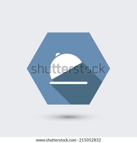 modern flat icon with long shadow. Eps10 - stock photo