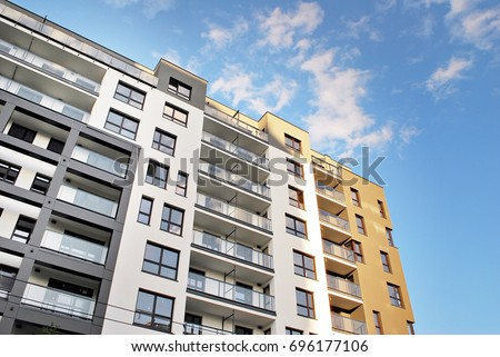Fancy Apartment Building modern luxury apartment building stock photo 587902058 - shutterstock