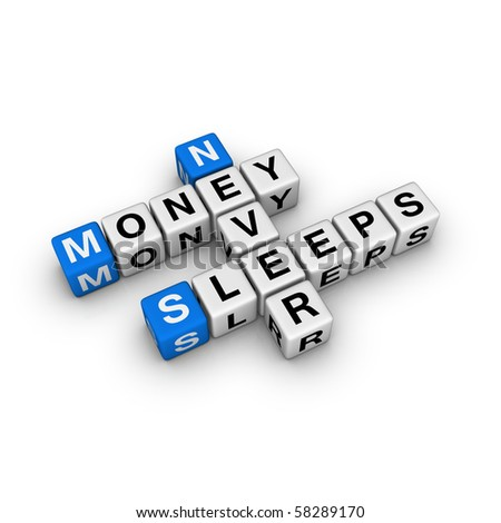money never sleep (blue-white cubes crossword series)