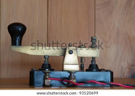 Morse Code Key - stock photo