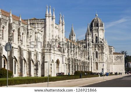 """""""Mosteiro dos Jeronimos"""" - Lisbon, Portugal - stock photo"""