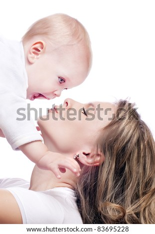 mother and baby-boy - stock photo
