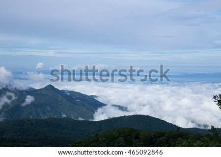 Mountain landscape At Changmai