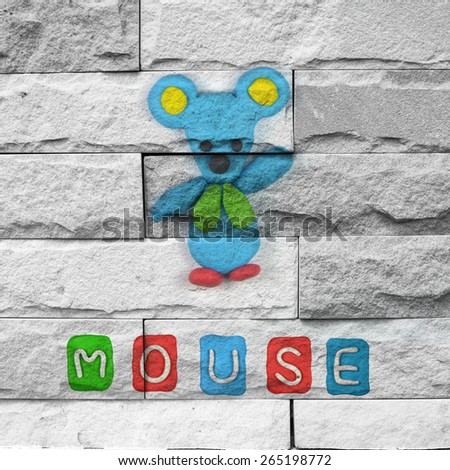 """mouse"" Mural. The brick painting concept"