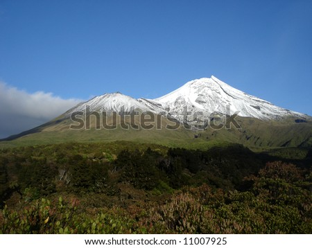 Mt. Egmont, Taranaki - stock photo
