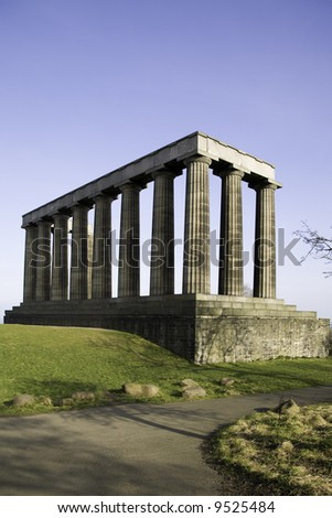 'National Monument' Calton Hill, Edinburgh, Scotland