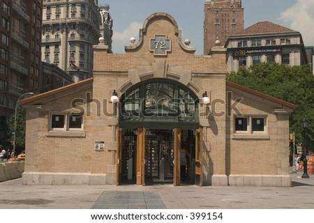 72nd Street Subway Stop - stock photo