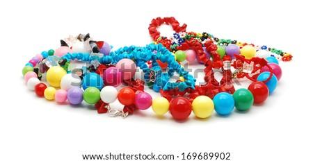 necklaces and bracelets   - stock photo