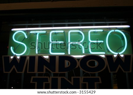 """neon sign"" series stereo - stock photo"