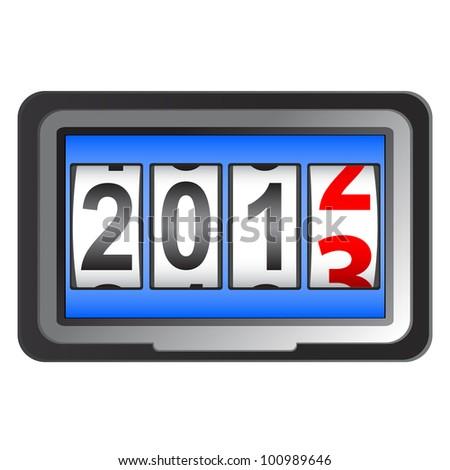 2013 New Year counter. - stock photo