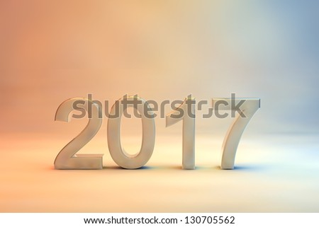 2017 New Year Greeting Card Design Stock Illustration 130705562
