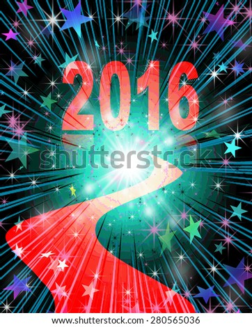 New Year 2016 is Coming          - stock photo