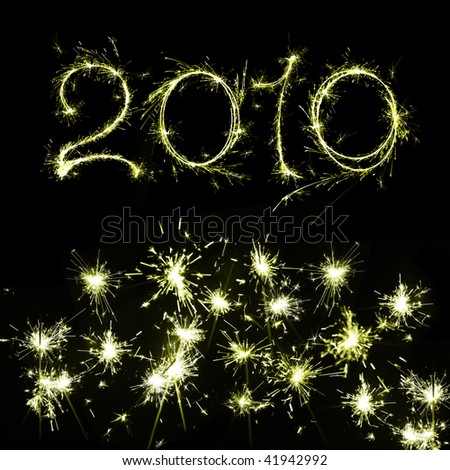 2010 New Year's Eve - stock photo