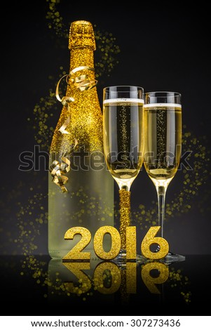 2016 New Years Eve celebration concept - stock photo