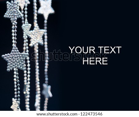 2013 New Years Party Background. Stars garland on dark background - stock photo