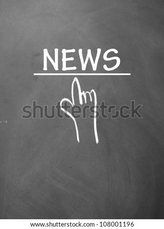 news title symbol - stock photo
