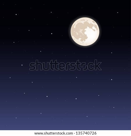 night sky. Its a raster version. Vector search in my portfolio. - stock photo