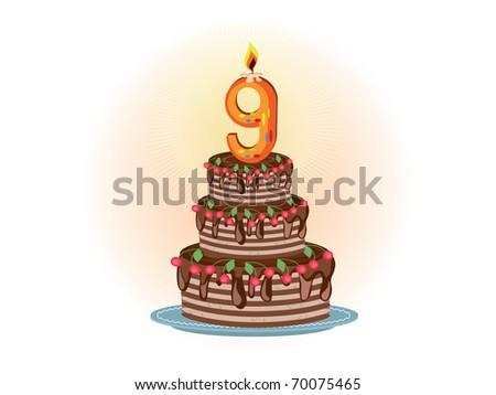 """Ninth birthday"" - stock photo"