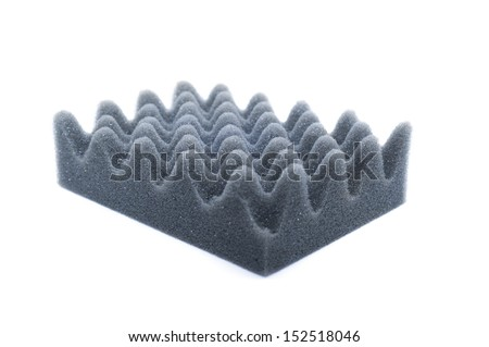 Noise isolating protective and shock isolated on white background  - stock photo