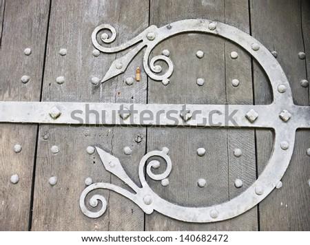Norman Door Detail, Adel Church, Leeds, Yorkshire, UK (1150-70) - stock photo