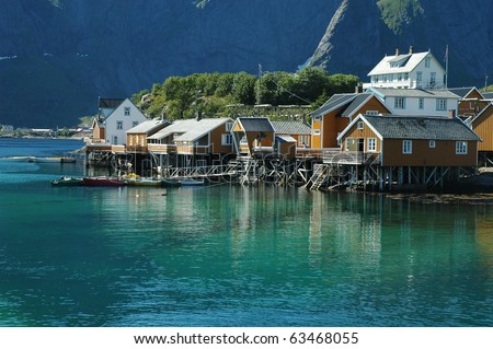 Norway fjord scenic in summer - stock photo