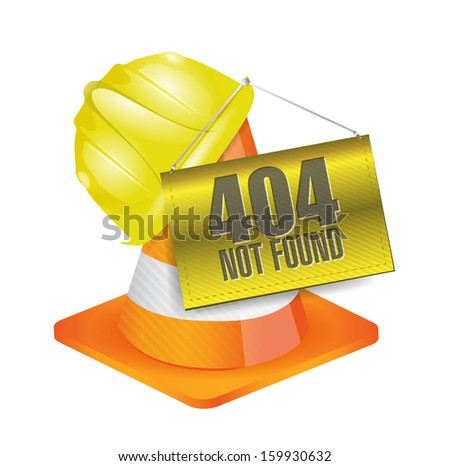 404 not found construction concept illustration design over a white background - stock photo