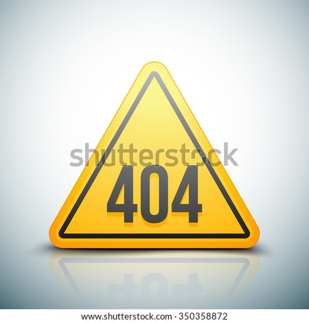 404 Not found error sign - stock photo