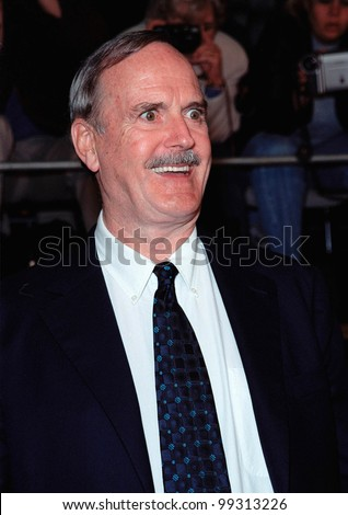 "08NOV99: Actor JOHN CLEESE at world premiere, in Los Angeles, of the new James Bond movie ""The World Is Not Enough"" in which he plays ""R"".  Paul Smith / Featureflash - stock photo"