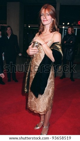 "12NOV97:  Actress NASTASSJA KINSKI at premiere of her new movie, ""One Night Stand,"" in which she stars with Wesley Snipes & Robert Downey Jr."