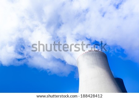 NUCLEAR POWER PLANT PRODUCING ATOMIC ENERGY - stock photo