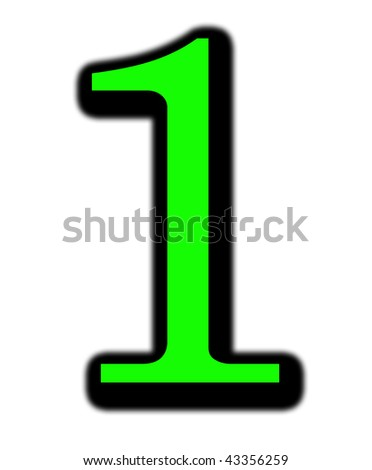 1 number - stock photo