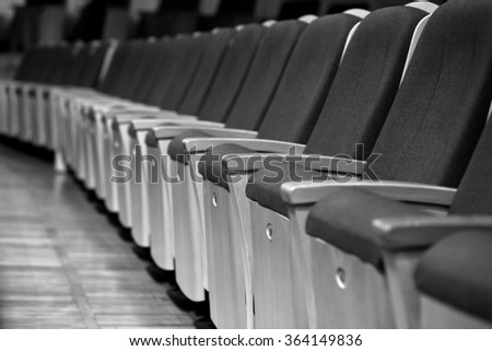 Number of seats in the auditorium in black and white