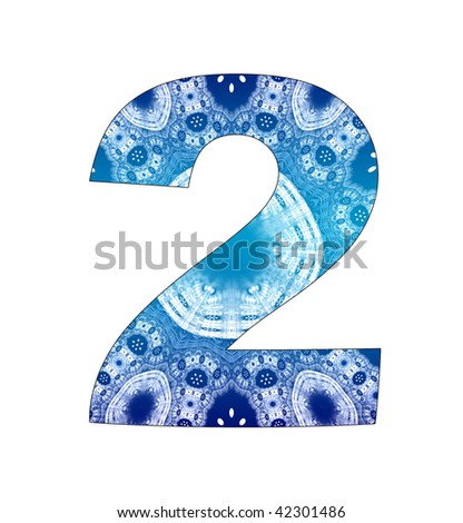 2 number with abstract design