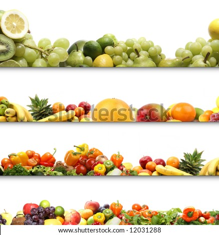 4 nutrition textures - stock photo