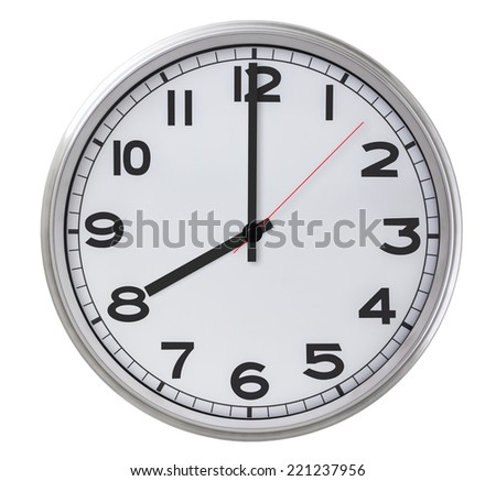 8 o'clock - stock photo