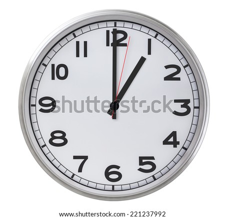 1 o'clock - stock photo