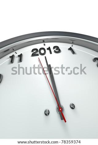 2013 o'clock - stock photo