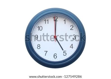 5 o'clock 5 am or pm - stock photo