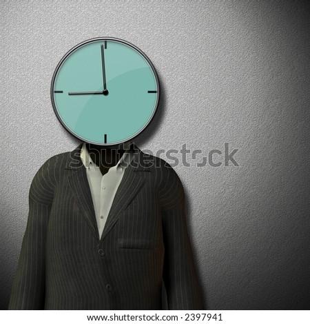 9 o'clock Start of work day - stock photo