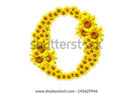 """""""O"""", flower alphabet isolated on white background - stock photo"""