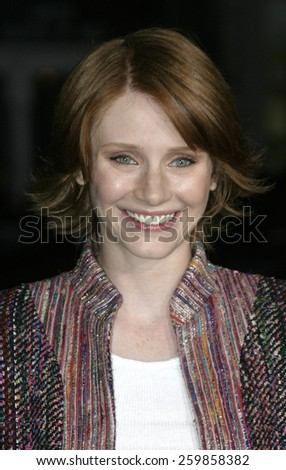 6 October 2004 - Hollywood, California - Bryce Dallas Howard. The world premiere of 'Friday Night Lights' at Grauman's Chinese Theater in Hollywood.