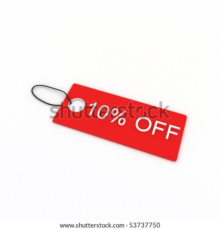 10% OFF - stock photo