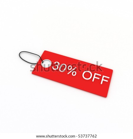 30% OFF - stock photo