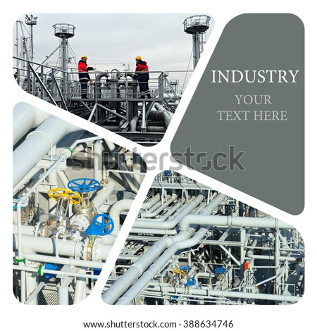 Oil And Gas Industry. Work on the gas tanker safety monitor. Industrial concept - stock photo